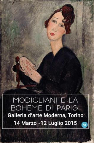 Amedeo Modigliani, Ritratto di Dédie e locandina della mostra.