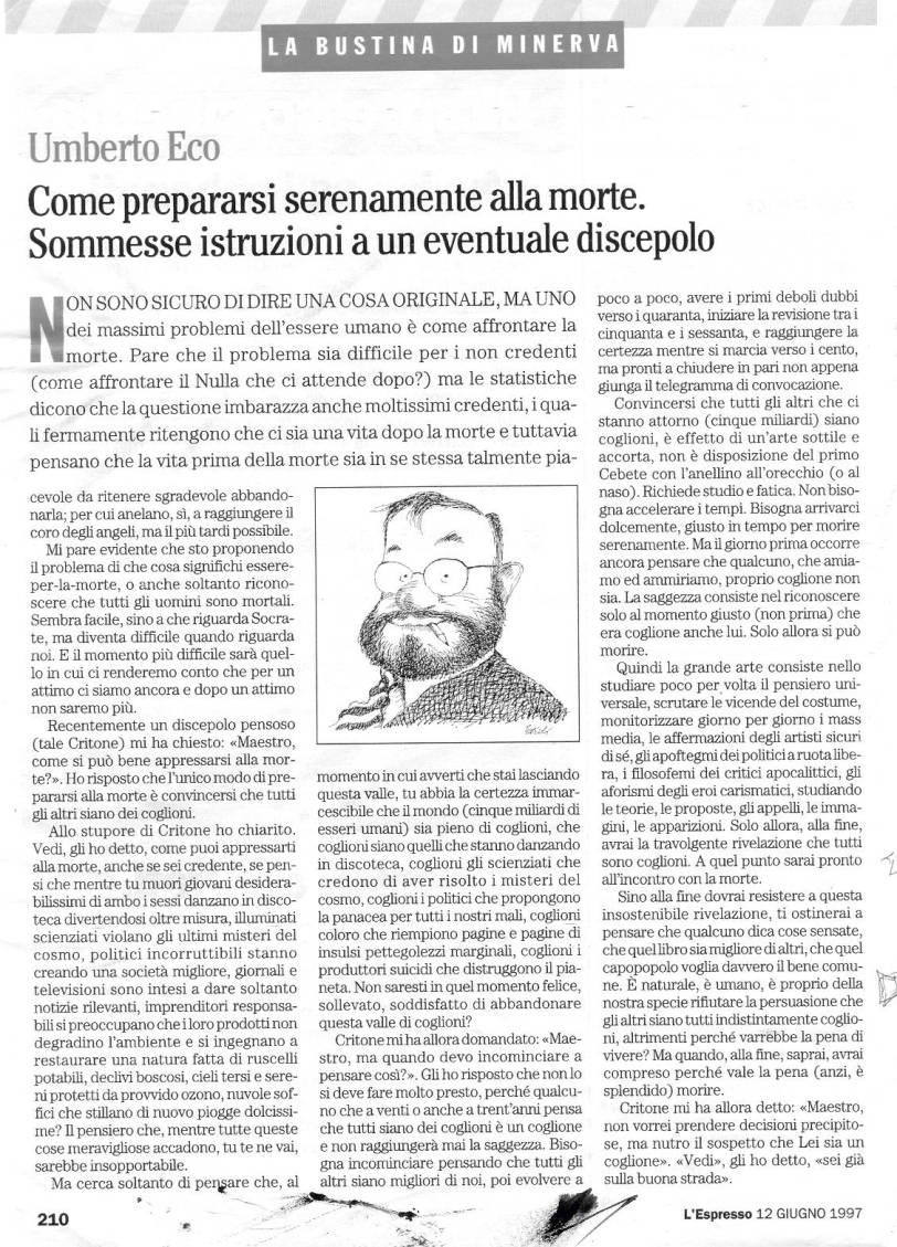 ECO 1997 Bustina di Minerva