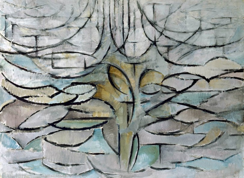 Blossoming apple tree, by Piet Mondriaan